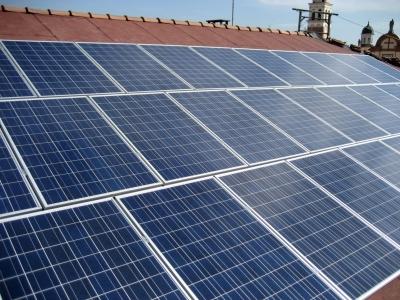 Pannelli  fotovoltaici a fine lavoro